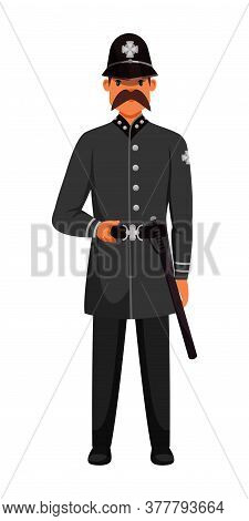 Guard Man Queens Patrol Soldier Character In Post. Ancient Palace Guardian Wearing Army Uniform. Bri