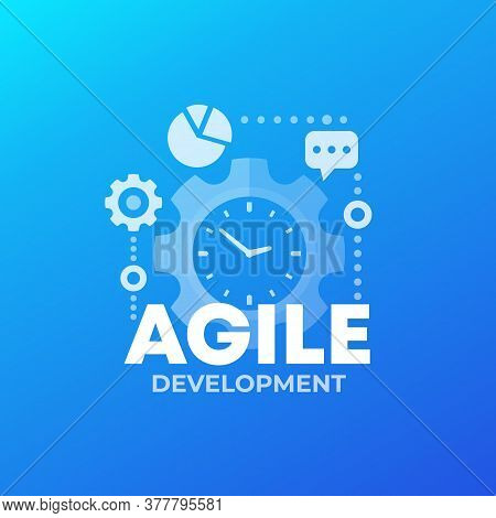 Agile Software Development Process, Vector, Eps 10 File, Easy To Edit