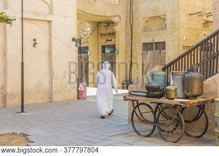 December 2019. A Street Scene In Al Seef In Dubai Uae