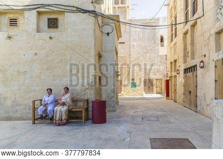 Decem, Ber 2019. A Street Scene In Al Seef In Dubai Uae