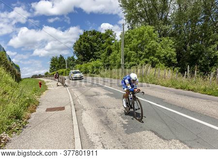 Bourgoin-jallieu, France - 07, May, 2017: The Argentine Cyclist Ariel Maximiliano Richeze Of Quick-s