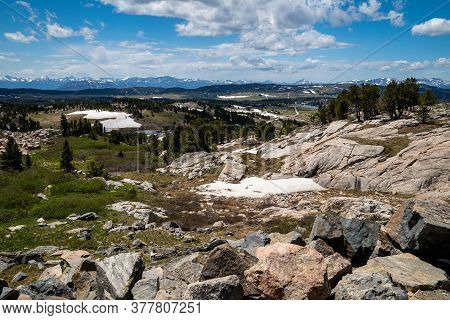 Tundra Scenery And Alpine Lake Along The Beartooth Highway In Montana And Wyoming