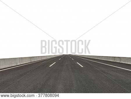 Isolated Blacktop With Clipping Path Horizontal Composition