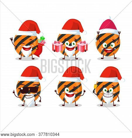 Santa Claus Emoticons With Halloween Stripes Candy Cartoon Character