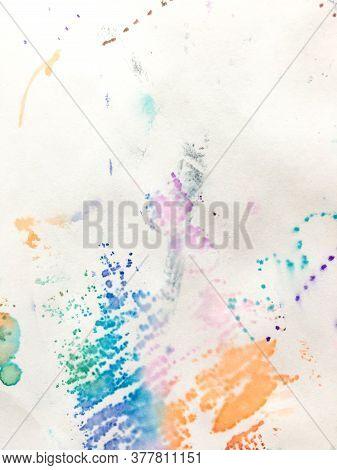Wall Art Canvas. Cartoon Child Paintings.  Aquarelle Futuristic Poster. Triangular Design Elements B