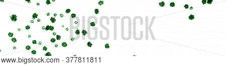 Garden Fruit Leaves. Green Ink Design. Seaweed White Background. Seaweed Marine Flora. Summer Marine