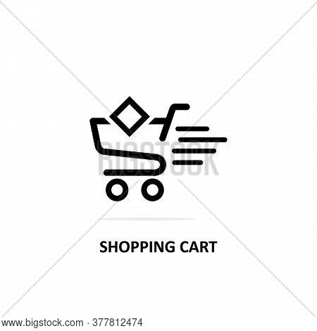 Shopping Cart Icon Isolated On White Background. Shopping Cart Icon Trendy And Modern. Shopping Cart