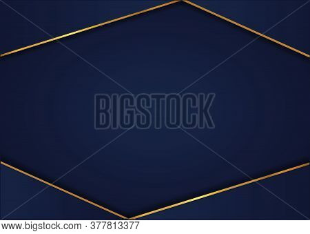 Abstract Overlap Layer Design Pattern Background With Space For Content. Vector Illustration.