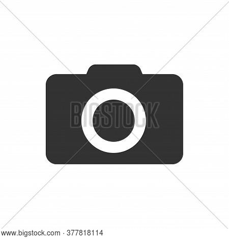 Photo Camera Icon Isolated Black On White Background, Camera Icon Vector Flat Modern, Camera Icon, C