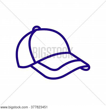 Baseball Hat Sketch Icon For Web, Mobile And Infographics. Hand Drawn Baseball Hat Icon. Baseball Ha