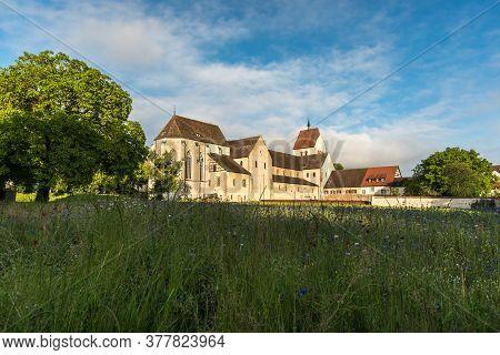 Reichenau Island, June 12, 2020. Minster Of St. Maria Und Markus, Monastic Island Of Reichenau, Lake