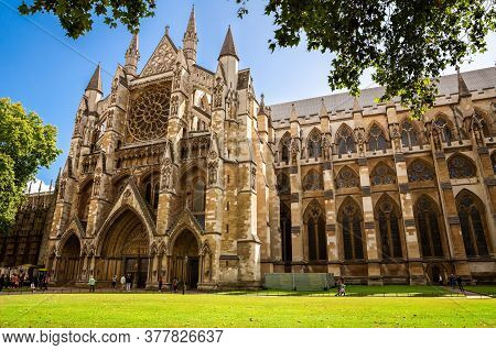 London, Uk - August 8, 2019 - Westminster Abbey - Collegiate Church Of St Peter At Westminster And M
