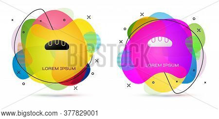 Color Bread Loaf Icon Isolated On White Background. Abstract Banner With Liquid Shapes. Vector