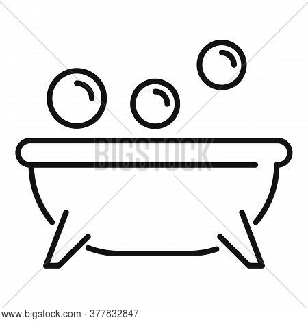 Spa Bathtub Icon. Outline Spa Bathtub Vector Icon For Web Design Isolated On White Background