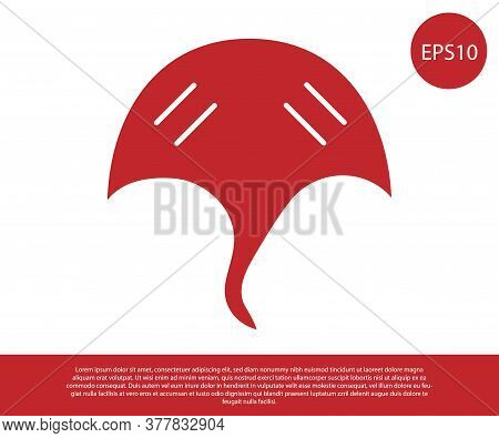 Red Stingray Icon Isolated On White Background. Vector.