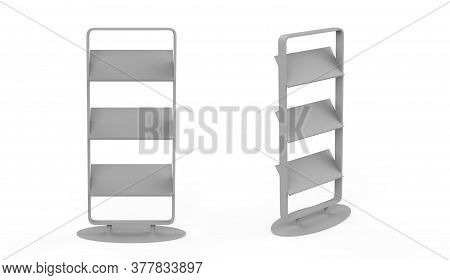 Lepose Tray Magazine Stand And Newspaper Stand/catalogue, Brochure Stand. 3d Illustration
