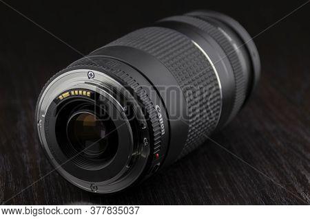 Al Ain, United Arab Emirates - 21 July 2020 : An Illustrative Editorial Image Of A 75-300mm Telephot