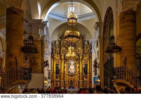 Llerena, Spain - Nov 07, 2019: Church Of Our Lady Of Granada, Llerena, Extremadura In Spain