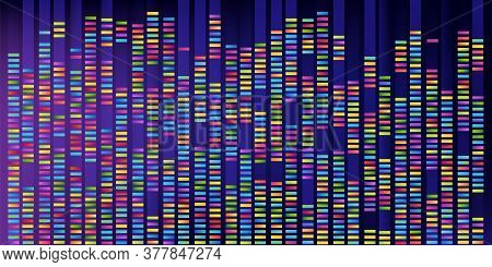 Big Data Or Genome Map Background. Colorful Abstract Scientific Banner.