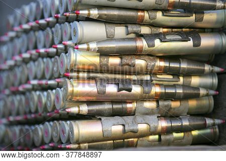 Patrons And Ammunition Close-up Neatly And Beautifully Laid Out, Background,