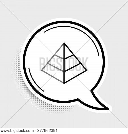 Line Egypt Pyramids Icon Isolated On Grey Background. Symbol Of Ancient Egypt. Colorful Outline Conc
