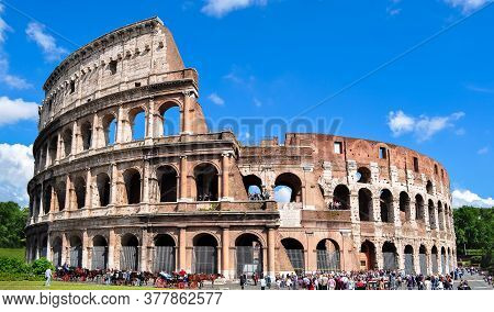 Colosseum (coliseum) In Rome In Summer, Italy