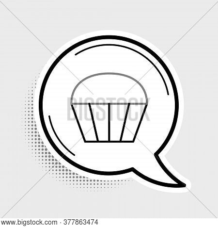 Line Muffin Icon Isolated On Grey Background. Colorful Outline Concept. Vector