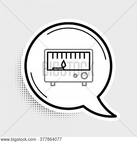 Line Electrical Measuring Instrument Icon Isolated On Grey Background. Analog Devices. Electrical Ap
