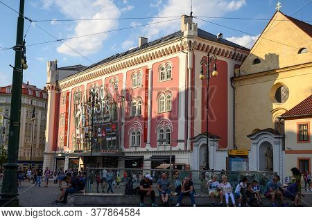 Prague - July 20, 2019: The Palladium Shopping Mall In Republic Square, Prague, Czech Republic In Ea