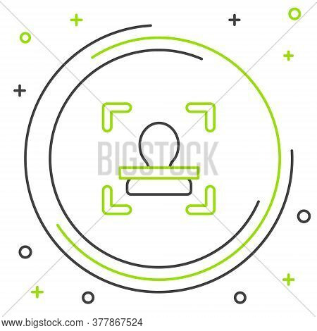 Line Face Recognition Icon Isolated On White Background. Face Identification Scanner Icon. Facial Id