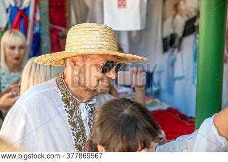 Poltava , Ukraine - August 22, 2018: Peoples Deputy Of Ukraine Igor Mosiychuk , Poltava Region Velyk