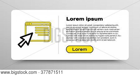Line Online Shopping In Browser Icon Isolated On White Background. Concept E-commerce, E-business, O