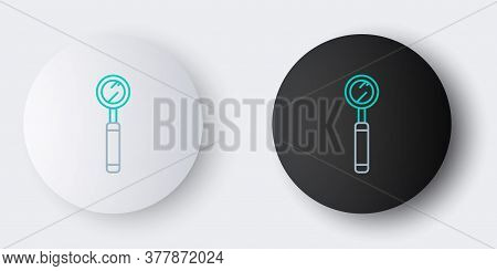 Line Dental Inspection Mirror Icon Isolated On Grey Background. Tool Dental Checkup. Colorful Outlin