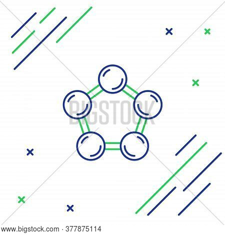 Line Molecule Icon Isolated On White Background. Structure Of Molecules In Chemistry, Science Teache