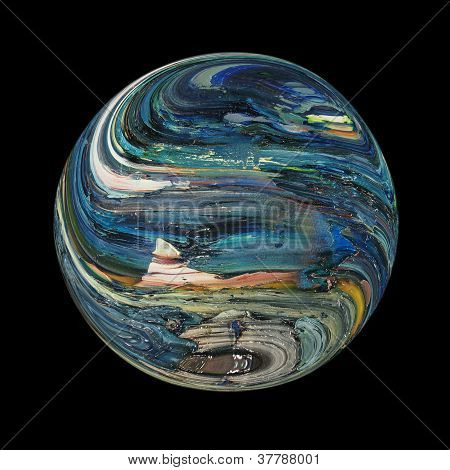 Unknown blue Planet