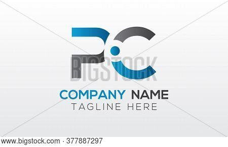 Initial Pc Letter Logo With Creative Modern Business Typography Vector Template. Creative Letter Pc