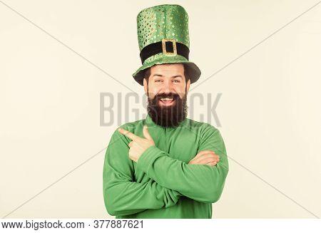 Green Color Part Of Celebration. Happy Patricks Day. Global Celebration Of Irish Culture. Myth Of Le
