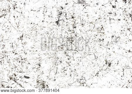Scratches Background. White Paint Metal Grunge Surface. Crack Lines Pattern. Distressed Industrial T