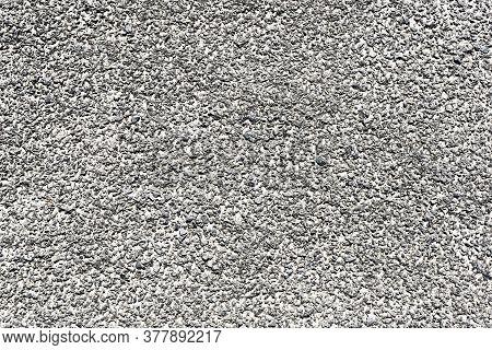 Grunge Asphalt Structure Texture. Granular Noise Background. Gray White Grain Pattern. Flat Rock Des