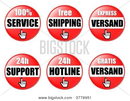 Shop Buttons Red