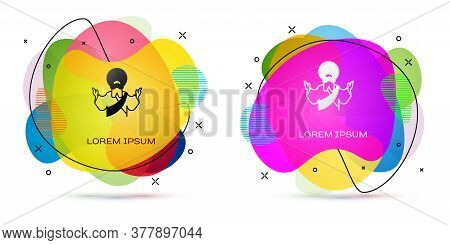 Color Jesus Christ Icon Isolated On White Background. Abstract Banner With Liquid Shapes. Vector Ill