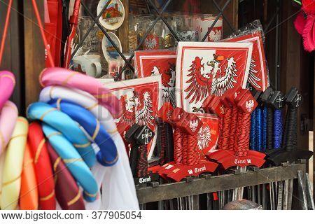 Torun, July 13: Souvenir Shop Selling Traditional Polish Handicraft Souvenirs On July 13, 2020 At To