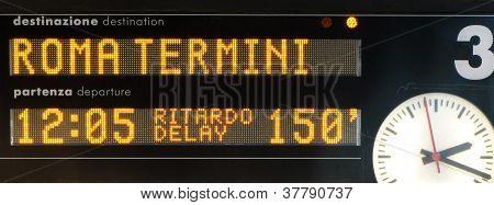 Train timetable board