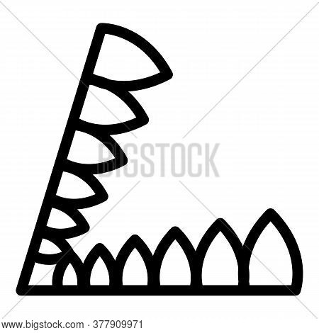 Steel Animal Trap Icon. Outline Steel Animal Trap Vector Icon For Web Design Isolated On White Backg