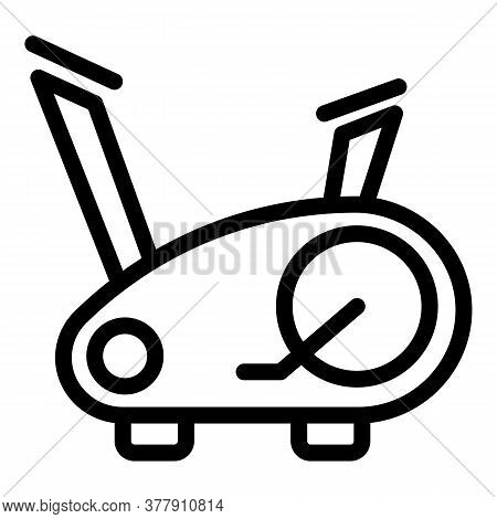 Fit Exercise Bike Icon. Outline Fit Exercise Bike Vector Icon For Web Design Isolated On White Backg