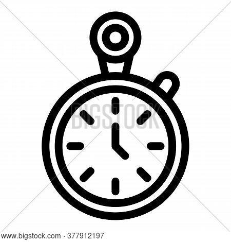 Workout Senior Stopwatch Icon. Outline Workout Senior Stopwatch Vector Icon For Web Design Isolated