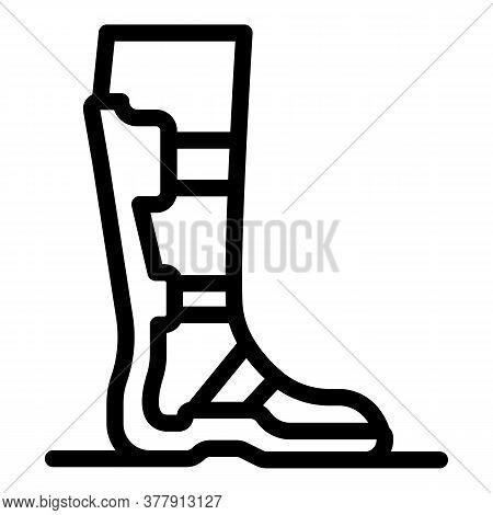 Leg Plaster Icon. Outline Leg Plaster Vector Icon For Web Design Isolated On White Background