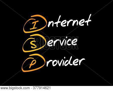 Isp - Internet Service Provider Acronym, Technology Concept Background