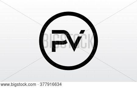 Initial Pv Letter Logo With Creative Modern Business Typography Vector Template. Creative Letter Pv