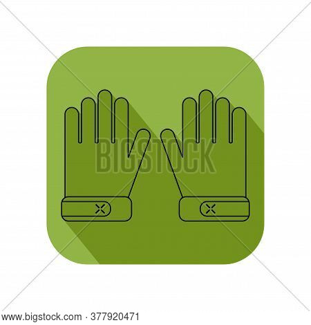 Working Gloves. Flat Objects Isolated On A White Background. Protective Clothing